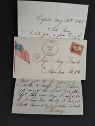 Civil War Enfield Nh 1861 26 Patriotic Cover Stand By The Union And Flag
