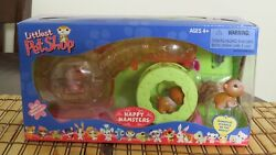 2004 Rare Retired Littlest Pet Shop HAPPY HAMSTERS #34 35 36 Pets Hamster Wheel