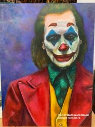 The Man Behind The Joke The Joker Acrylic On Canvas Painting /prints Available