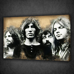 Pink Floyd Sketch Music Band Modern Wall Art Canvas Print Picture Ready To Hang
