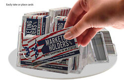 Business Card Holder 9 Pocket Rotating Horizontal And Vertical Countertop Qty 24