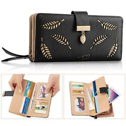 Women Ladies PU Leather Clutch Long Wallet ID Card Phone Holder Purse Handbag US $11.16