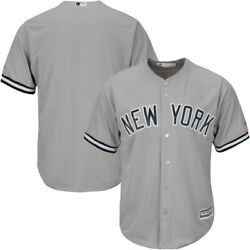 Majestic New York Yankees Gray Big And Tall Cool Base Team Jersey - Xlt