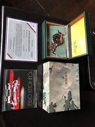 Rolex 16753 Nipple Dial Two Tone GMT Oyster Bracelet. Original Box And Book 1982