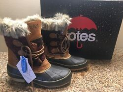 Totes Boots 6 M Lynn Tan Waterproof Shell Lined Winter Duck Boot New In Box $35.95
