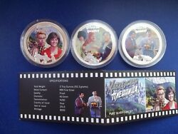 2013 Niue Caucasian Hostage 3 X 2 Proof Silver .999 3 Coin Set New Zealand Mint