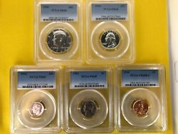 Pr68 1964 Pcgs Proof Set Coins Kennedy Mirror/cameo Look Like 50c 25c 10c 5c 1c
