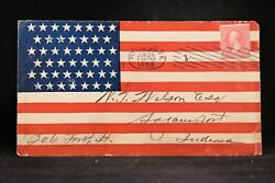 Pa Pittsburgh 1898 Allover 45 Star Flag Spanish American War Patriotic Cover