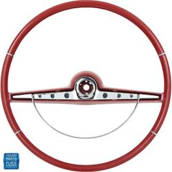 1963 Impala Steering Wheel And Horn Ring Kit Red Standard And Ss