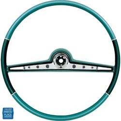 1962 Impala Steering Wheel Kit Two-tone Blue Standard And Ss