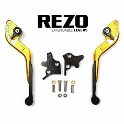 Rezo V2 Cnc Extendable Gold Motorcycle Levers Buell Xb12 X Ulysses 09-09