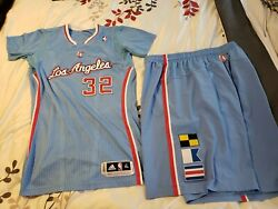 Griffin 2013-14 Los Angeles Clippers Authentic Pro Cut Game Jersey And Shorts