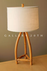 Awesome Mid Century Modern Bamboo Table Lamp Vtg 50and039s South Pacific Light Tiki
