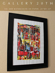 Orig. Art Abstract Cubist Painting Vtg Cezanne Mid Century Fernand Leger 60's