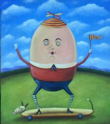 Painting By Mexican Artist Esau Andrade Andldquo Humpty Dumpty Andldquo