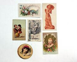 Vintage Soap Card Ads Lot Of 6 Iowa Sapolio Celon Red Letter Soap And More