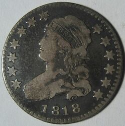 = 1818 Fine+ Bust Quarter, Nice Details, Free Shipping