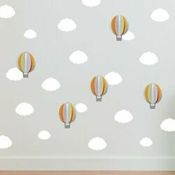 Paper Riot Co. Quick Stick Decor 24 Removable Decals Up In The Clouds SOFT8