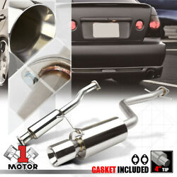 Ss Catback Exhaust System 4 Beveled Tip Muffler For 01-05 Lexus Is300 Altezza