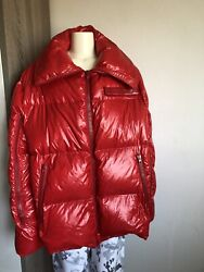 Calvin Klein 205w39nyc Super Oversized Puffer Down Jacket Coat Red Raf Simons 2