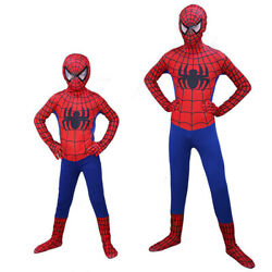 Kids Spiderman Costume Adults Superhero Bodysuit Child Adult spider man Cosplay