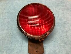 Early Truck Light Glass No.855 Red Lens Kd 855s Vintage Bus Lamp Old