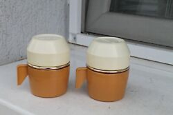 Antique Old Vintage 2pieces Kitchen Thermos Coffee 1960years Rosalin Tazzina Bar