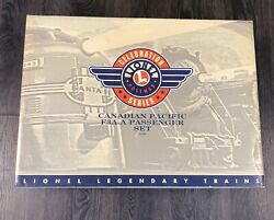 Lionel 21759 Post War Celebration Canadian Pacific F3a-a W/4 Passenger Set Used