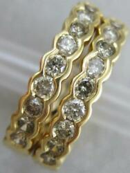 Estate .80ctw Round Diamond Front Hoop 14kt Yellow Gold Earrings 19mm L1326.55