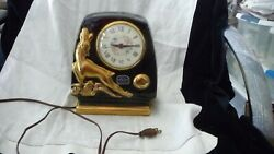 88 Vtg Electric Clock Art Deco Pottery By Howard Sessions Movement Works
