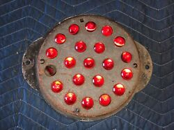 Large Old Marble Vintage Red Glass Cats Eye Reflector Car Truck Old Rr Post
