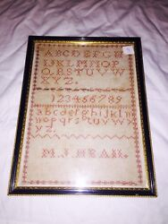 Vintage Victorian Uk Late 18th Early 19th C Alphabet Sampler By M J Heaii Boots