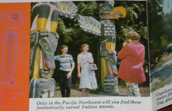 Old Totem Vancouver Canada Map Vintage Native American Indian Photos Advertising