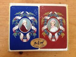 Vtg 1950s Mid Century Anne Orr Victorian Guild Playing Cards Double Deck W Box
