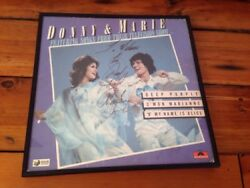 Donny And Marie Osmond Signed Autographed Deep Purple Album Polydor Record Framed