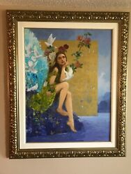 Franandccedilois Fressinier - A New Day Hand-signed Serigraph On Canvas Framed