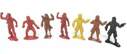 Vintage Mpc Pirates Ringhand Figures Toys 1960s Plastic 2-3/4 Lot Of 7 Bundle