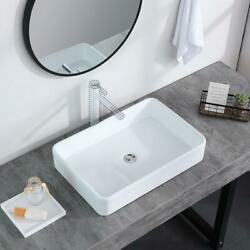Bathroom Sink Vessel Sink Porcelain 24 Inch Above Counter White Countertop