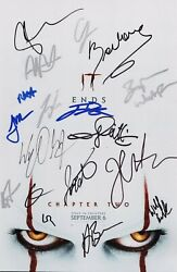 It Chapter 2 Cast X18 Authentic Hand-signed Jessica Chastain 11x17 Photo