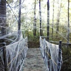 Halloween Decoration Spider Web Scary Party Scene Props Wampire Teeths Cockroach
