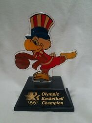 1984 Olympic Champion Trophy Basketball Sam The Eagle Applause Usps Transport