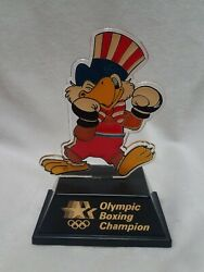 1984 Olympic Champion Trophy Boxing Sam The Eagle Applause Usps Transport