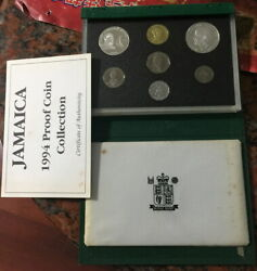 Jamaica 1994 Hemingway Mint Box Proof Set Of 7 Coins,mintage Only 500sets