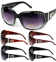 New WB Eyewear Womens Rhinestones Wrap Sunglasses Designer Fashion Shades Around $8.99