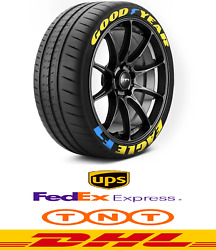 Tire Lettering Sticker Goodyear Eagle F1 1,25 Font Heigh. For 14---24
