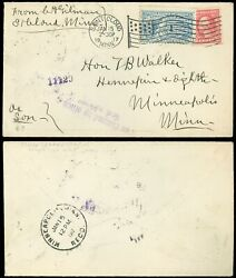 1/15/1917 St. Cloud, Mn Cds To Hon. T. B. Walker Special Delivery E9, Scv 65