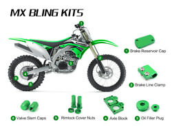 Green Bling Kit For Kawasaki Kx450f 06-18 Kx250f 11-18 Klx450 08-09 Kx250 19-