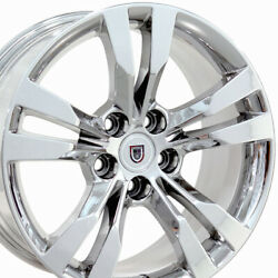 18x8.5 Wheels Fit Cadillac Buick - Cadillac CTS Style Chrome Rims 4717 SET-CP