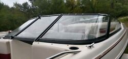 Complete Curved Glass Windshield Off 1992 Sunbird Corsair 182 Sl Boat Parting