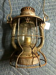 Vintage Antique Pandle Pittsburgh And Lake Erie Railroad Lantern Dietz Old Rr Light